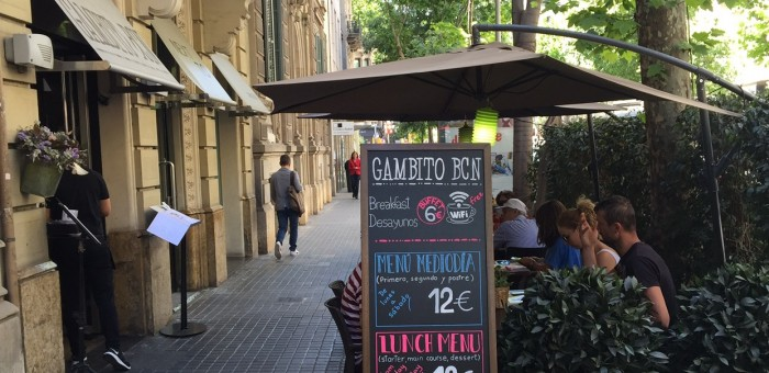 Gambito BCN Restaurant with menu of the day in Eixample