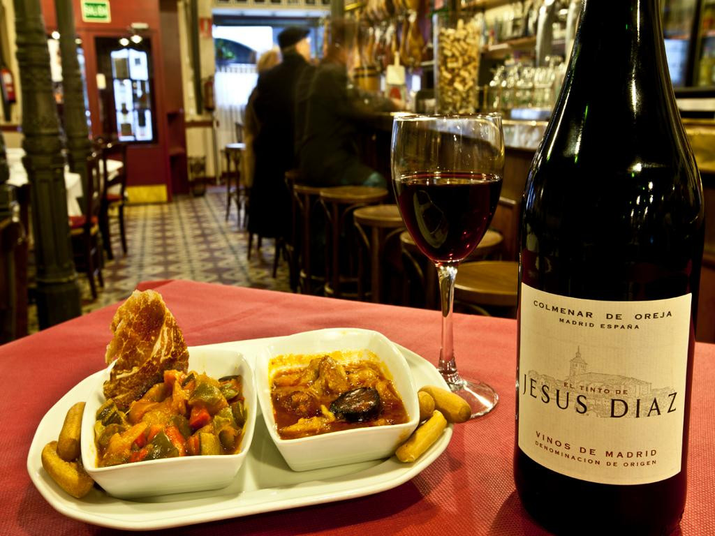Tapas and wine at Casa Patas in Madrid