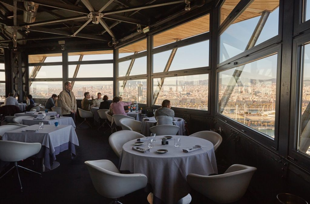 This is the Torre D 'Alta Mar restaurant in Barcelona