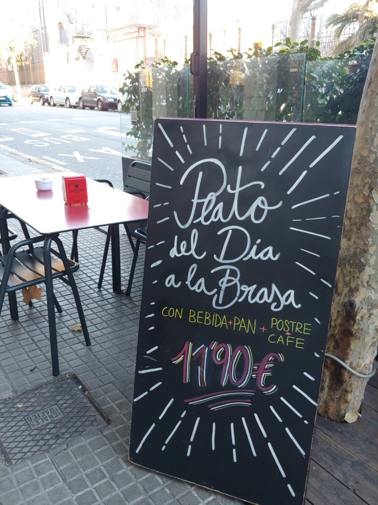 dish of the day in Barcelona restaurant